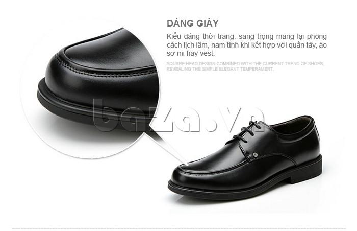 dáng giầy da cao cấp OLUNPO QYS1201 thời trang, sang trọng