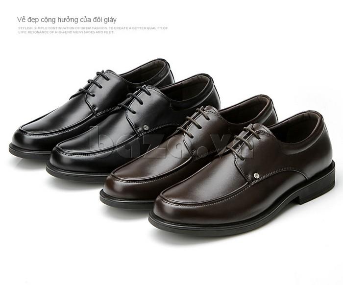 vẻ đẹp cộng hưởng của đôi giầy da cao cấp OLUNPO QYS1201