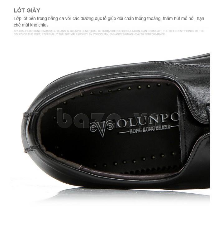Logo của giầy da cao cấp OLUNPO QYS1201 được in bên trong