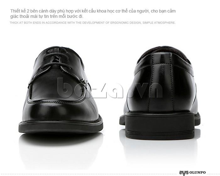giầy da cao cấp OLUNPO QYS1201 thiết kế thoải mái phù hợp với chân của nam giới