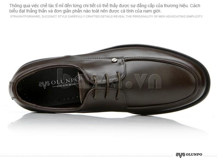 giầy da cao cấp OLUNPO QYS1201 biểu đạt được sự đơn giản mà mạnh mẽ của nam giới