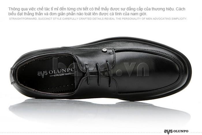 giầy da cao cấp OLUNPO QYS1201 tinh tế tỉ mỉ đến từng chi tiết