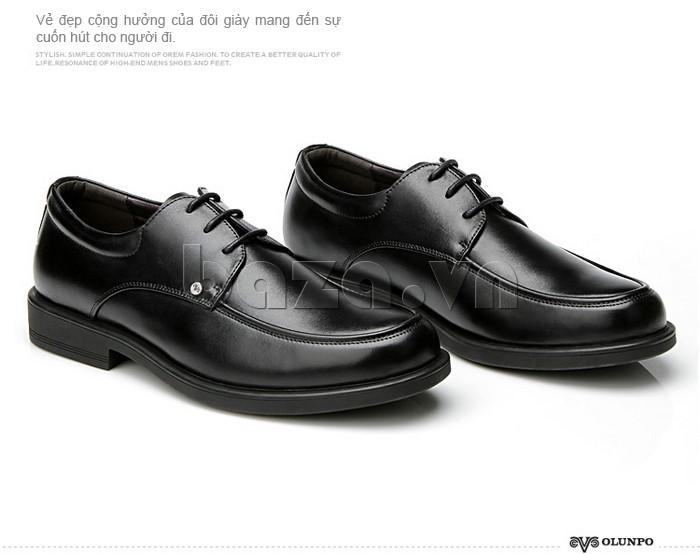 giầy da cao cấp OLUNPO QYS1201 màu đen sang trọng