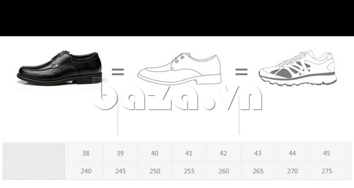 giầy da cao cấp OLUNPO QYS1201 có nhiều size cho bạn lựa chọn