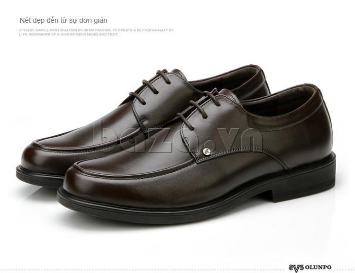 giầy da cao cấp OLUNPO QYS1201 mang vẻ đẹp đơn giản nhưng tinh tế