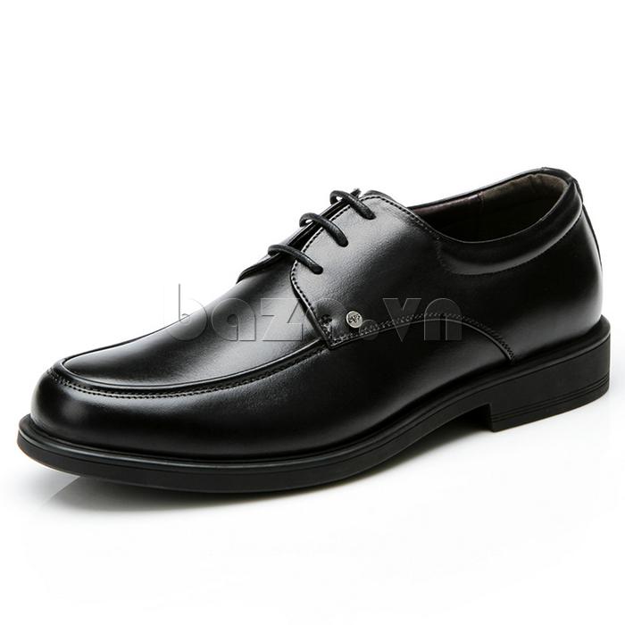 giầy da cao cấp OLUNPO QYS1201 màu đen huyền bí