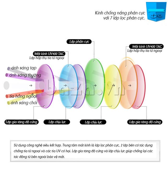 Kính Unisex Q&J 8808  - kính mắt phân cực sành điệu