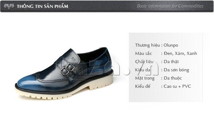 Thông tin của Giầy da nam thời trang Olunpo QEY1301