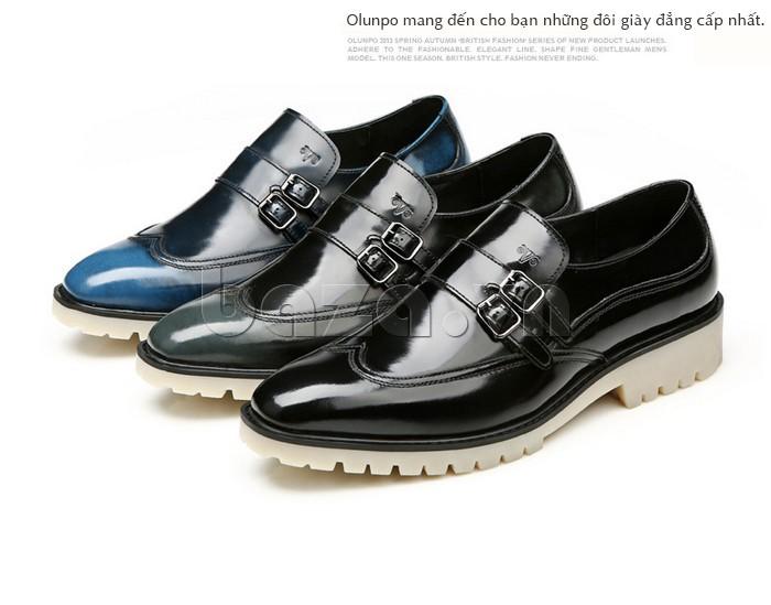 Giầy da nam thời trang Olunpo QEY1301 đẳng cấp