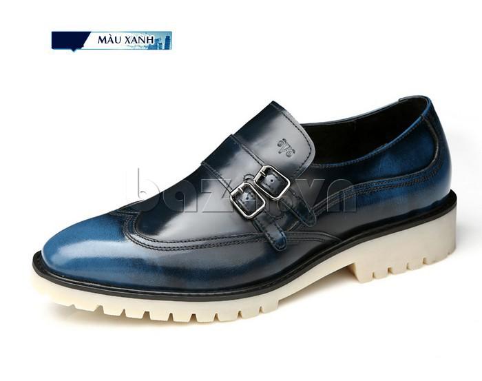 Giầy da nam thời trang Olunpo QEY1301 màu xanh sang trọng