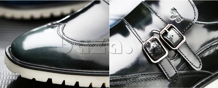 Giầy da nam thời trang Olunpo QEY1301 có dây đai phong cách