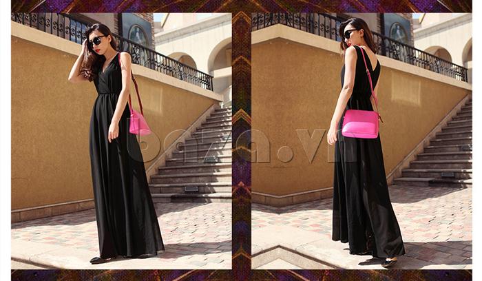 Váy maxi nữ dáng dài Jiumeixuehu JMXHLYQ22 lạ