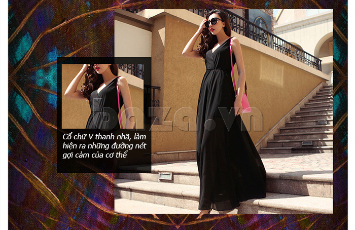 Váy maxi nữ dáng dài Jiumeixuehu JMXHLYQ22 ấn tượng