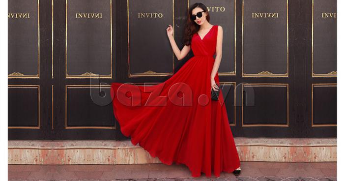 Váy maxi nữ dáng dài Jiumeixuehu JMXHLYQ22 thời trang