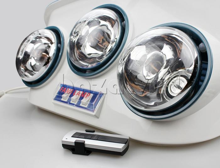 Đèn sưởi điều khiển từ xa Fami Lamp tiết kiệm điện năng