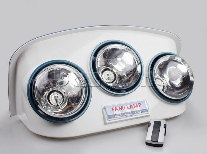 Đèn sưởi điều khiển từ xa Fami Lamp thương hiệu Fami