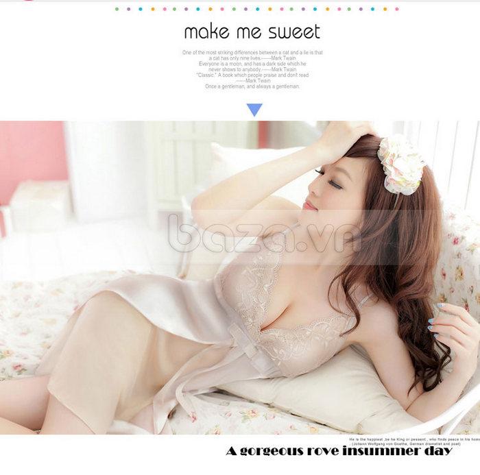 Bộ đồ ngủ nữ Hamuse bằng lụa ngọt ngào
