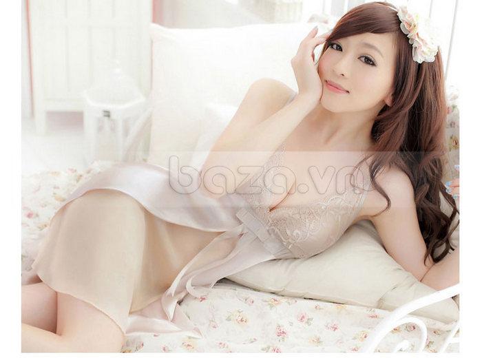 Bộ đồ ngủ nữ Hamuse bằng lụa - quyến rũ từng đường nét