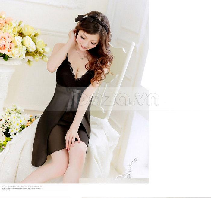 Bộ đồ ngủ nữ Hamuse bằng lụa đáng yêu - lôi cuốn và quyến rũ