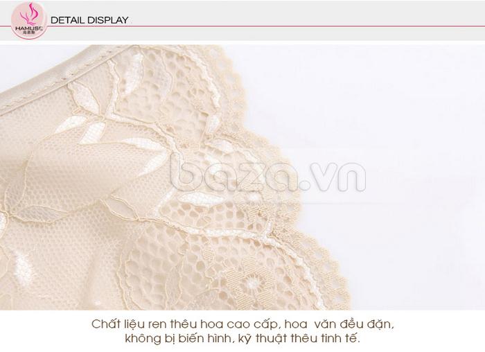 Bộ đồ ngủ nữ Hamuse bằng lụa đáng yêu - ren nhập khẩu