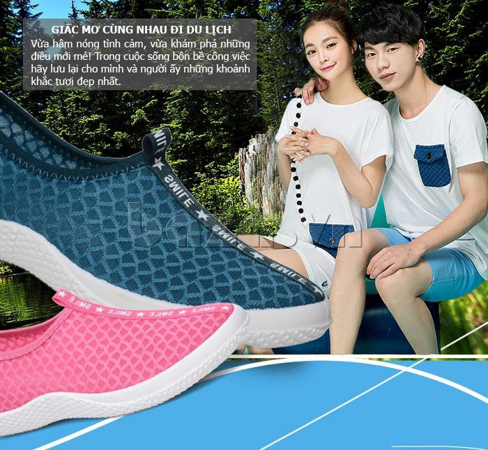 Giày lưới phong cách thể thao Wadnaso màu sắc