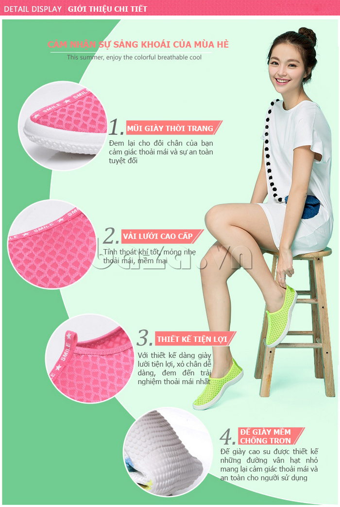 Giày lưới phong cách thể thao Wadnaso thời trang