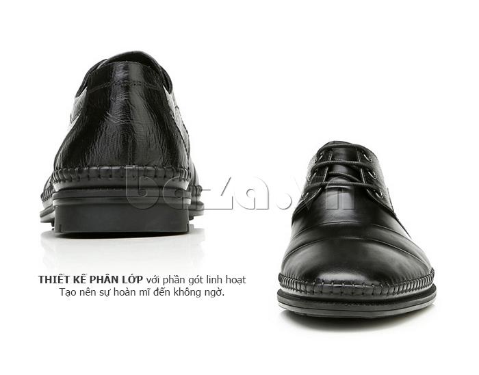 Giày da nam Olunpo QABA1410 thiết kế phân lớp tinh tế