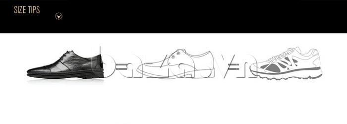 kích thước của giày