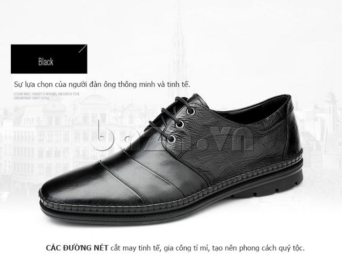 Giày da nam Olunpo QABA1410 đường cắt tinh tế