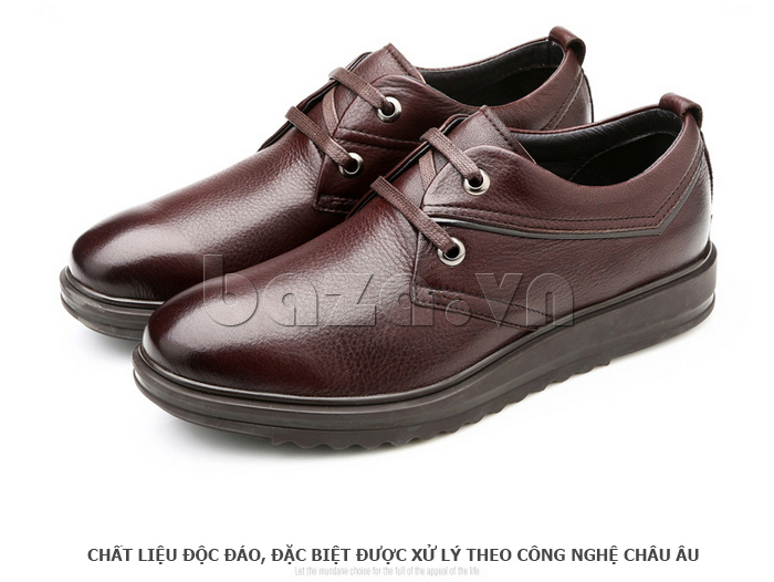 Giày da nam Olunpo QZK1404 làm từ chất liệu độc đáo