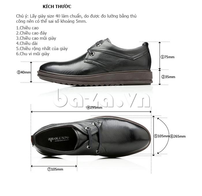 Giày da nam Olunpo QZK1404