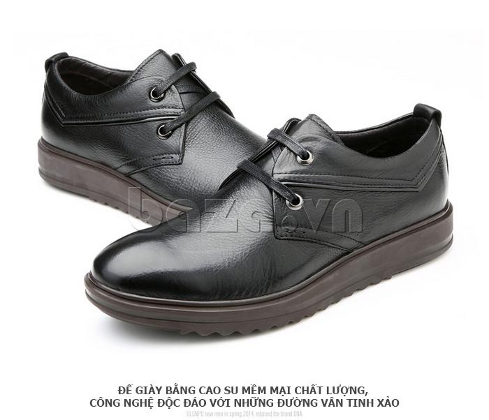 Giày da nam Olunpo QZK1404 thiết kế vân tinh xảo