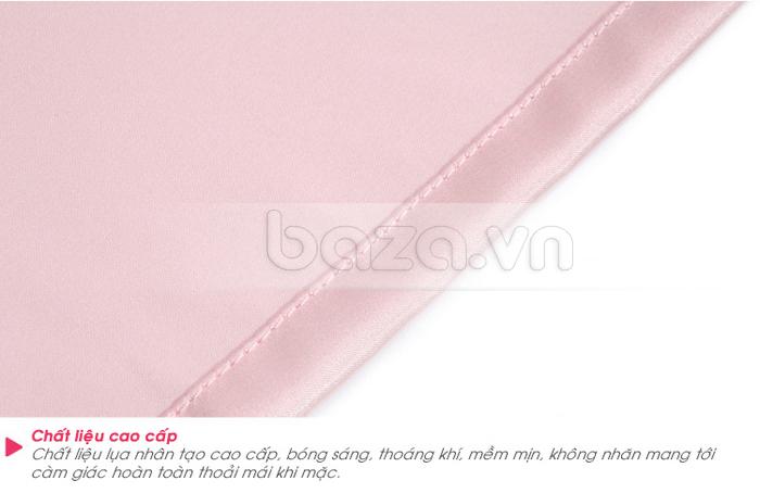 bộ đồ ngủ áo choàng nữ Hamuse có tay - chất liệu cao cấp