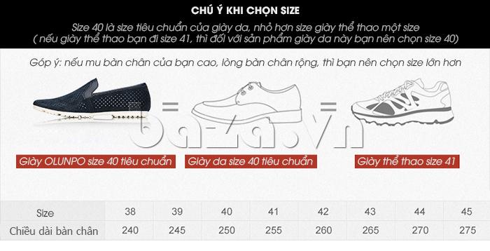 Giày nam Olunpo XMB1501 thời trang