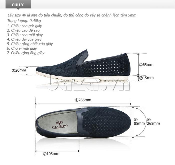 Giày nam Olunpo XMB1501 thiết kế hiện đại
