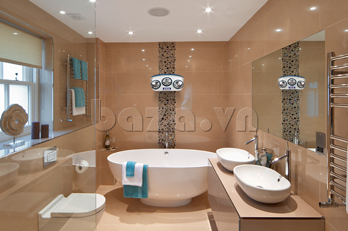 Đèn sưởi nhà tắm Fami có tia hồng ngoại chính hãng