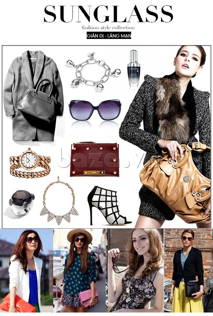 Phong cách thời trang cùng Kính mắt nữ Q&j A166