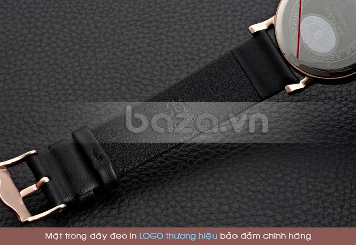 Mặt trong dây đeo đồng hồ in logo đảm bảo chính hãng