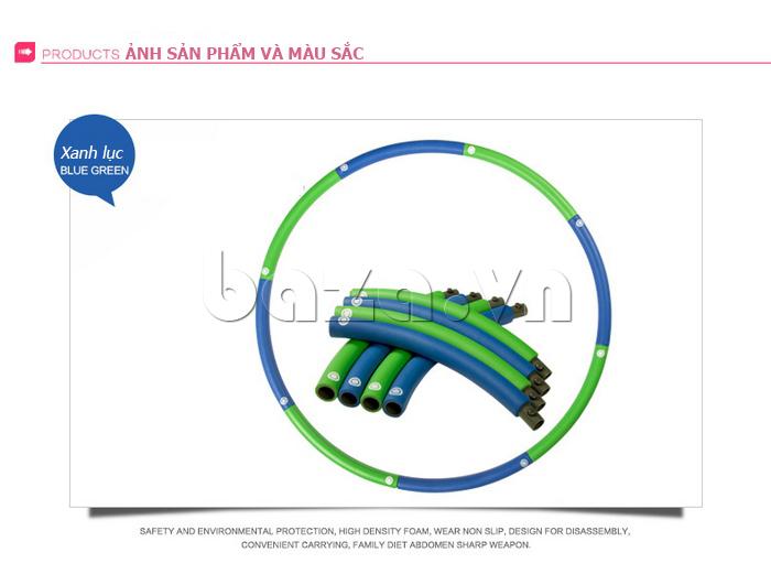 Vòng lắc thể thao phối màu nổi bật EG MK3008 - màu xanh