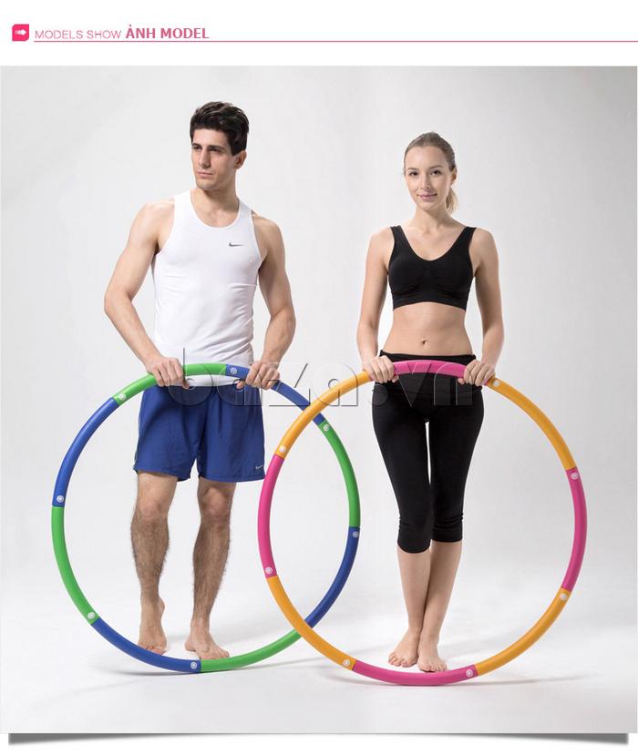 Vòng lắc thể thao phối màu nổi bật EG MK3008 đa năng