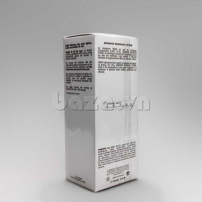 kem dưỡng thể Soskin Whitening Body Lotion and Sensitive Area được phân phối tại Baza.vn