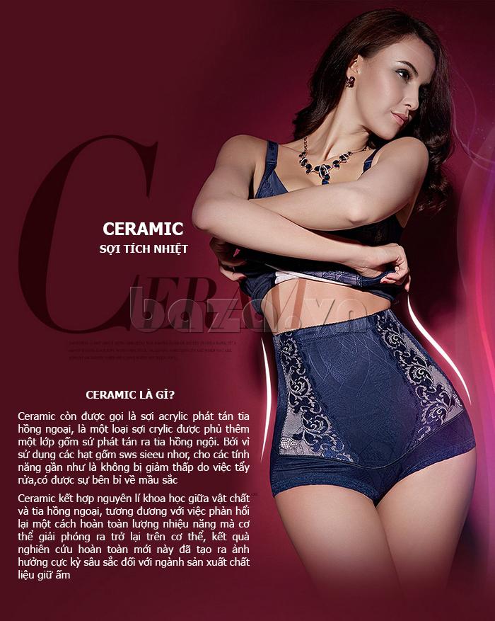quần lót định hình phủ sợi tích nhiệt Ceramic Moveon MS8479