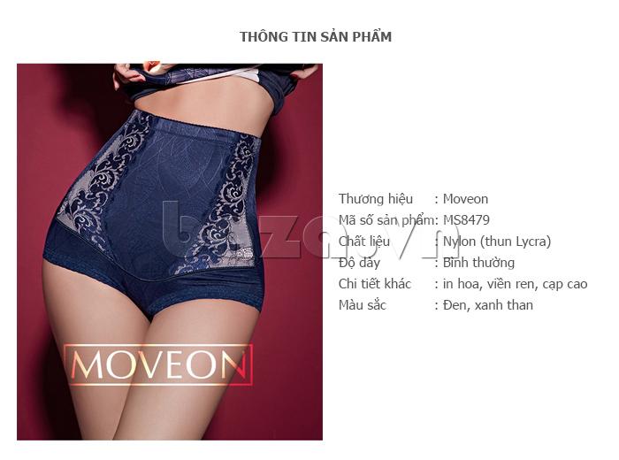 quần lót định hình cạp cao nữ Moveon MS8479