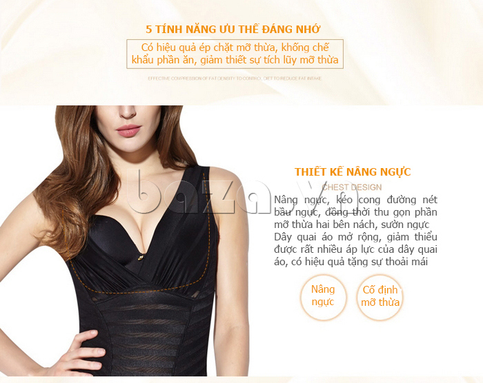 áo định hình liền thân Moveon MS5564 nâng ngực căng tròn