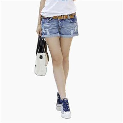 Quần short jean nữ mài rách