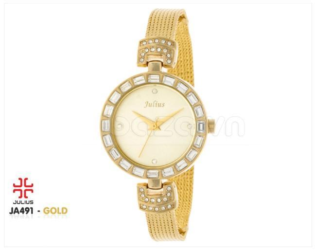Đồng hồ nữ Julius JA491 mặt tròn thời trang