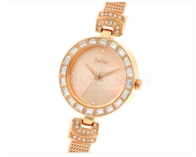 Đồng hồ nữ Julius JA491 viền gắn đá