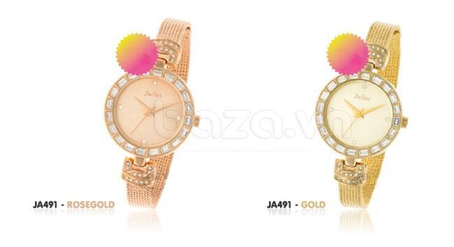 Đồng hồ nữ Julius JA491 phiên bản đồng và vàng