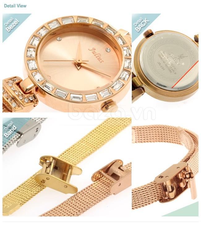 Đồng hồ nữ Julius JA491 mặt đơn giản mà tinh tế