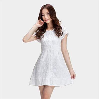 Váy Gấm Thêu Cổ Tròn Công Chúa Tuyết